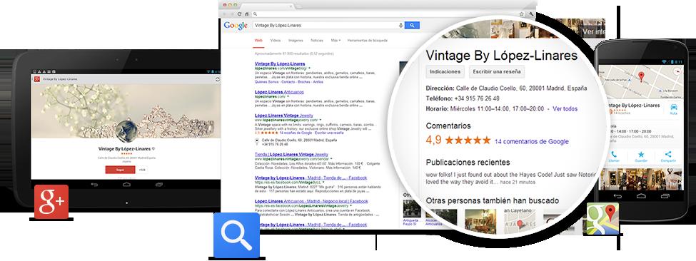 Google My Business reúne en un mismo lugar todas las formas en las que Google puede contribuir a que tu empresa se destaque.